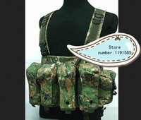 ak magazine vest - Outdoor tactical ride AK multi pocket magazine chest rig carry cs vest Digital Camo Woodland