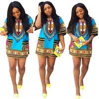 Wholesale New summer sexy fashion design african skirt traditional print cotton Dashiki dress Men and Women s