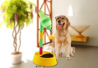 Wholesale Increased and pet dog cat bottle Vertical water fountain Drinking fountain Height adjustable CM PP HY1037
