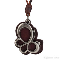agate butterfly - Rock Punk Genuine Leather Chain Fashion Butterfly Pendant Necklace Cool