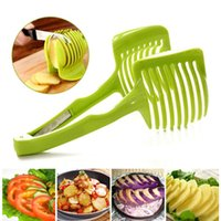 fruit slice - 2016 Kitchen Accessories Cooking Tools Slice Tomato Fruit Slices Clip Cutter Stand Utensilios Assistant Lounged Tomato Lemon Shredders Slice