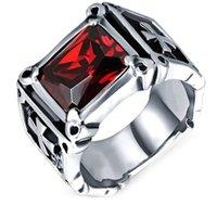 beautiful jewlery - Fashion Day Jewlery Mens Jewelry beautiful fashion cross design Halma cz ring silver cz ring Mens punk ring