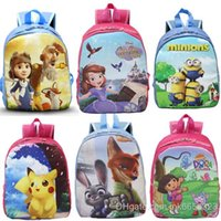 Wholesale 2016 Poke Sofia Frozen School Bags Animal schoolbag Kids Boys Girls fashion print children backpacks Shoulder Book Bags