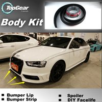 Wholesale Bumper Lip Lips For Audi A3 S3 RS3 Front Skirt Deflector Spoiler For Car Tuning The Stig Recommend Body Kit Strip