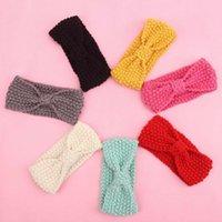 baby headbands crochet pattern - Winter Ear Warm Crochet Headband For Baby Bohemia Style Solid Knot Bow Pattern Knitting Turban Head Band Hair Accessories