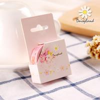 Wholesale daisyland and tape Sakura bud cartoon decoration diary album paper hand hand account