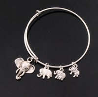 alloy animal bangle - 5Styles Alex Ani Bangles Elephant Animal Bracelets Expandable Wire Bracelets Fashion Jewelry BB010 BB014 HOT sell