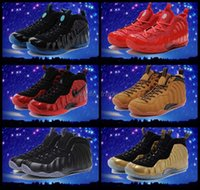 Wholesale Cheap Penny Foamposites One Mens Basketball Shoes Red Black High Quality Sports Shoes Penny hardaway Posite Sneakers Eur