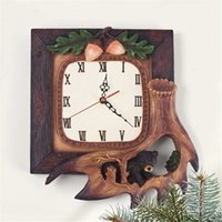 bear wall clock - Creative Rural Forest Black Bear Wall Clock China quot