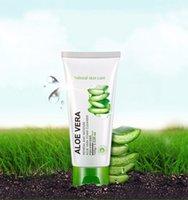 Wholesale Aloe Vera Foam Cleanser Deep Cleansing Facial Cleanser Moisturizing Oil Control Shrink pores remove blackhead Face Cleanser