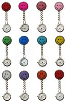 Wholesale nurse New Color Relax Style Nurse Watch With Smile Brooch Pendant Hanging Doctor Pocket Watches Stainless Steel