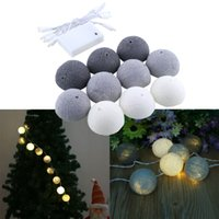 Wholesale Outdoor Lighting Lighting Strings Aladin LED Cotton Ball Gorgeous Fairy String Light Lantern Party Wedding Tree Decor Decoration M