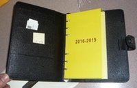 Wholesale Top Grade Medium Ring Agenda Cover R20242 Black Canvas coated Real Leather