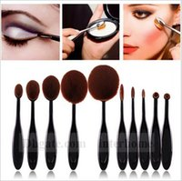 Wholesale Makeup Brushes Set Oval Blending Brush Multipurpose Mermaid Toothbrush Foundation Powder Soft Face Brushes Professional Makeup Tools B932
