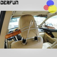 auto clothes hanger - Convenient Stainless Steel Car Auto Seat Headrest Clothes Coat Suit Pattern Metal Driver Passenger Vehicle Hanger