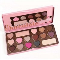 Wholesale 2016 New arrival Too Makeup Faced BON BONS Chocolate Bar Eyeshadow Palette Colors Eyeshadow Love Heart how to clamour guide