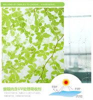 Wholesale cm thickening colour bathroom toilet door to door put sunscreen sunscreen insulation glass stickers green leaves
