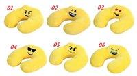 Wholesale Portable U shape massage pillows emoji cartoon U pillows healthy U neck memory pillow home office travel respite Cushion