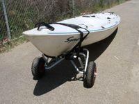 aluminum canoes - New Aluminum Kayak Boat Canoe Gear Cart Trailer Carrier Trolley Wheels