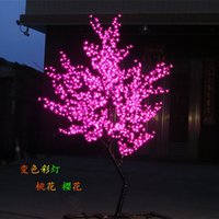 artificial christmas tree led - 864 LEDs ft Height LED Cherry Blossom Tree LED Christmas Tree Light Waterproof VAC Pink Color Outdoor Use Free Ship