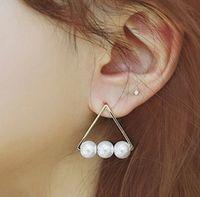 Wholesale Hot Knot Stud Triangle Earrings Hot Selling Earrings Stud Designer Women Stud Earring Fashion