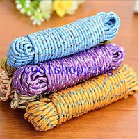 Wholesale 2016 New Design m Colorful Multifunction Nylon Washing Clothes Line Rope Clothesline String m Hangers Racks