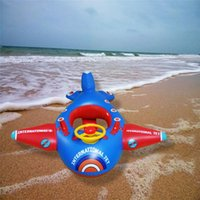 baby steering - baby Steering wheel Floating boat Summer toys Aircraft shape life buoy Cartoon swimming ring Water toys Swimming Ring Beach Toys