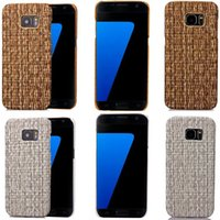 straw mat - Weave Hard PC Case Veneer Gluing Oil Feel Vine Straw mat Back For Samsung Galaxy S7 EDGE Iphone S Plus I6S Skin Cell phone Luxury