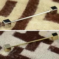 Wholesale Mens Necktie Tie Clip Bar Clasp Cravat Pin Skinny Collar Brooch Jewelry C00030 SMAD