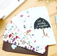 Wholesale pack Colorful Various Umbrella Novelty Envelope Letter Paper Message Card Letter Stationary Storage Paper Gift