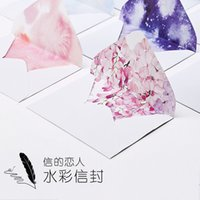 Wholesale pack Watercolor Starry Sky amp Summer Flowers Envelope Message Card Letter Stationary Storage Paper Gift