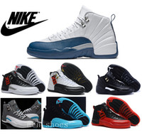 pvc leather - Nike dan Mens Basketball Shoes J12 French Blue Original Quality Retro The Master Jordans Taxi Playoffs Gamma Blue With Box
