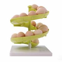 Wholesale Creaive slide shape kitchen Food storage box Egg rack holder Container Carrier Case fashion healthy kitchen tools