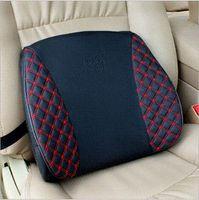 Nouvelles 2014 3 couleurs voiture Lumbar Chair Seat Cushion voiture fournitures automobiles oreiller lombaire voiture oreiller massage Retour soutien lombaire de style