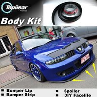 Wholesale Bumper Lip Lips For SEAT Toledo Skirt Deflector Spoiler For Car Tuning The Stig Recommend Body Kit Strip