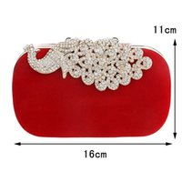 Wholesale Factory retail hot sell diamonds women bags velvet small purse holder bags rhinestones clutch evening bags for wedding