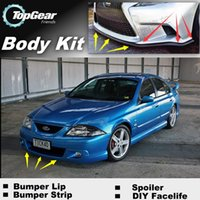 Wholesale Bumper Lip Lips For Ford Falcon Fairmont FTE TE50 TS50 Front Skirt Deflector Spoiler For Car Tuning The Stig Recommend Body Kit Strip
