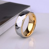 Wholesale High Quality mm Width K Gold Plating Tungsten Wedding Ring Prism Design for Man s Jewelry Size