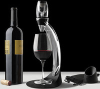 acrylic wine holder set - Acrylic Wine Quick Magic Decanter Sets for Home Bar Club Barware Sets Red Wine Aerator Filter with Stand Holder Wine Tools