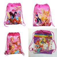 Wholesale MOQ Hot Cartoon Children Drawstring Backpack Bags Kids Shopping School Traveling GYM bags waterproof fabric as Party Gift Bags NO