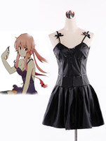 Wholesale FREE PP New Anime Future Diary nd Mirai Nikki Yuno Gasai Black Dress Costume Cosplay
