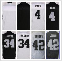 Wholesale NIK Elite Football Stitched Raiders Jackson Joseph Mack Howie Long Amari Cooper Black White Elite Jerseys Mix Order