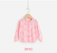 Wholesale Girl s sweater coat infants during the spring and autumn jacket made of pure cotton thin summer wear year old baby cardigan