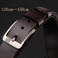 Wholesale Men s Belts Extended belt cm big size high quality pure leather belt luxury designer belts freeshipping
