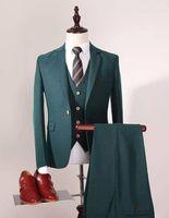Real Picture slim Fit Groom Tuxedos Nouveaux Groomsmen 24 Styles Best Man Costume / Bridegroom / Wedding / Prom / Cérémonie Costumes (Veste + Pantalon + Vest)