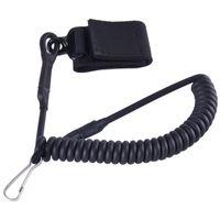 adjustable hanging - SINAIRSOFT Adjustable Combat Sling Telescopic Tactical Pistol Hand Gun Secure Lanyard Spring Sling With Magic Tape Belt Hanging Buckle Not