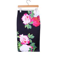 Wholesale Flower Rose print women middle skirts Western retro style vogue lady faldas girls fashion summer clothing mix order