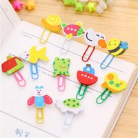 Wholesale Deal cm Cartoon wooden paper clips cute animals clip bookmarks coloured drawing or pattern with paper clips B1023