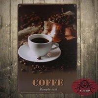 advertising door hangers - Retro Style Coffee Advertising Sign door sign Wall Hanger Sign Garden kicchen decor F