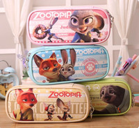 Wholesale High Quality Zootopia multi function Stationery Bag Large Capacity Zootopia Pencil Bags Students Stationery Bags Cosmetic Bag